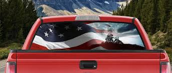 Amazon Com M22 Waving American Flag Iwo Jima Marines Ww2 Military Full Color Back Window Graphic Decal Truck Backscape 66 X 20 Inches Automotive