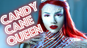 candy cane queen makeup tutorial you