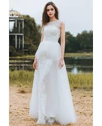 boho beach wedding dress sleeveless
