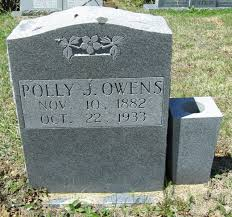 """Polly """"Poppie"""" Johnson Owens (1882-1933) - Find A Grave Memorial"""