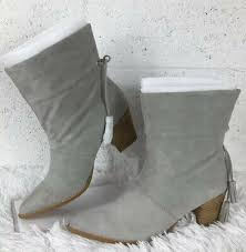 Sole/Society So Adele Gray Suede Booties, New, Sz 9M   eBay