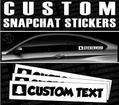 Custom Snapchat Stickers Social Media Stickers Personalized Decals Stickernerd Com