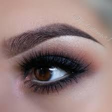 white eyeliner dark gray smoky eyes