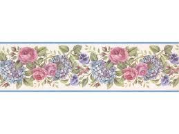 lavender pink roses wallpaper border