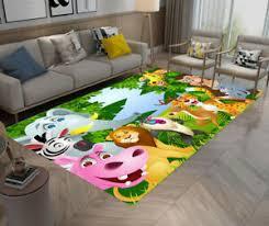 Forest Cute Animals Area Rug Kid Play Carpet Baby Living Room Floor Beach Mat Ebay