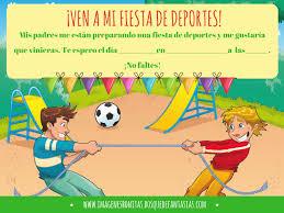 Invitaciones Para Fiestas Deportivas Tarjetas Infantiles