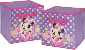 Amazon Com Disney Minnie Mouse Storage Cubes Set Of 2 10 Inch Toys Games
