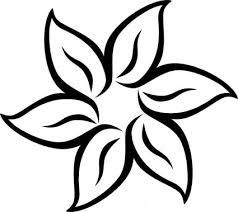 free flower images black and white