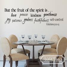 Galatians 5 22 23 Vinyl Wall Decal 1 Fruit Of The Spirit Is Love Joy Peace Patience Kindness Gentleness Faithfulness Self Control
