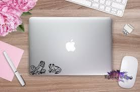 Frog Princess Tiana And Naveen Gift Macbook Car Window Laptop Vinyl Decal Sticker