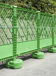 Safety Fence Of The Road Construction Site Made Of Resin Stock Photo Picture And Royalty Free Image Image 47020081