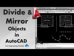 autocad 9 how to divide and mirror