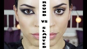 round vs slanted eyes makeup tutorial