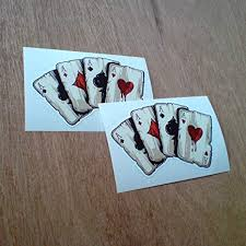 Amazon Com 2 Four Aces Playing Cards Vinyl Stickers Everything Else