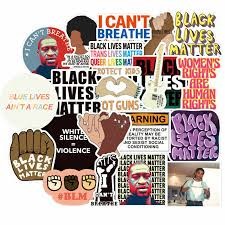 50pcs Pack Black Lives Matter Graffiti Sticker For Stationery Laptop Luggage Fridge Pvc Car Styling Decal Stickers Stickers Aliexpress