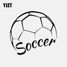 Yjzt 14 7cm 14cm Soccer Ball Logo Car Sticker Vinyl Decal Football Sports Black Silver C3 1591 Car Stickers Aliexpress