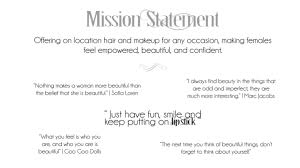 makeup artist mission statement