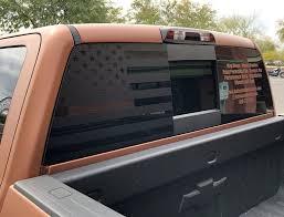 American Flag Rear Window Decal For 14 18 Silverado Rakkasan Motorsports