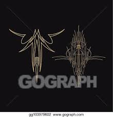 Vector Art Pinstriping Vehicle Graphic Decorative Vector Vinyl Decal Clipart Drawing Gg103979602 Gograph