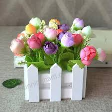 Xuanmax Artificial Rose Flower With Fence Potted Plant Simulation Bonsa Plants Decoration Ornaments Indoor Outdoor Hanging Planter Wedding Balcony Valentine S Day Decor 10x10x12cm Mix Color Home Kitchen B07b3jccjj