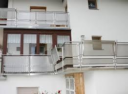 glass panel balcony inox design