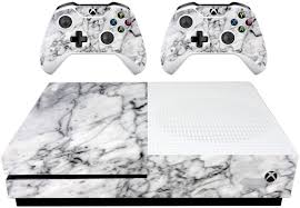 Vwaq White Marble Skins For Xbox 1 S Wrap Decal For Xbox One Slim Xs