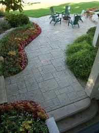 stamped concrete adds depth and beauty