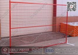 Orange Color Temporary Construction Fence Panels 6ft X 8ft Heslyfence