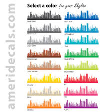 Wall Decal Mural City Skyline Chicago Illinois