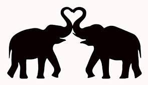 Amazon Com I Love Elephants Vinyl Decal Sticker Car Truck Wall Laptop Phone Tumbler Locker Decoration 5 5 W X 2 9 H Black Hgc3033 01 Clothing