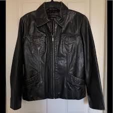 vtg leather jacket a classic