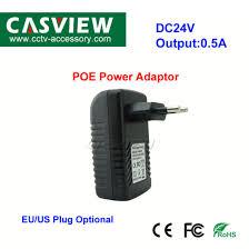 china dc24v 0 5a poe power adaptor wall