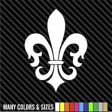 Fleur De Lis Decal Sticker Symbol Vinyl Car Window Vinyl Many Colors Sizes Ebay