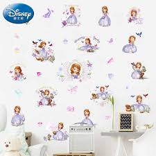 Disney Lovely Princess Sofia Dance Wall Stickers For Home Decor Kids Bedroom Switch Cup Computer Decoration Art Mural Pvc Decal Wall Stickers Aliexpress