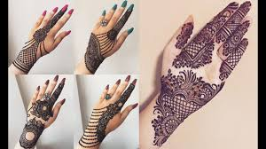 fashionable simple back hand mehndi design 2019