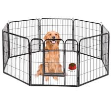 Bestpet Dog Pen Extra Large Indoor Outdoor Dog Fence Playpen Heavy Duty 16 8 Panels 24 32 40 Inches Exercise Pen Dog Crate Cage Kennel Playpens