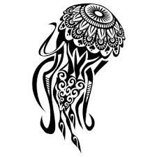 Amazon Com Js Artworks Maori Jellyfish Vinyl Decal Sticker Black Automotive