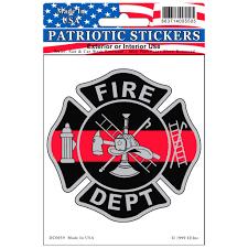 Fire Department Logo Red Line Honor Badge Car Decal Walmart Com Walmart Com