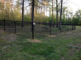 chain link fencing installation in