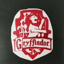 Harry Potter Gryffindor Decal House Crest Red Glitter 4 X 3 25 Lion Car Auto Ebay