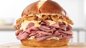 beer cheese n double beef sandwich