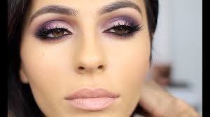purple pink smoky eye makeup eye