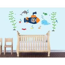 Children S Bedroom Wall Stickers Under The Sea Wall Decals For Kids