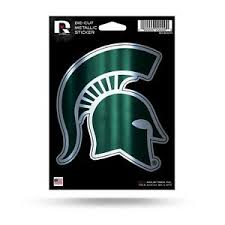 Michigan State Spartans 5 Metallic Decal Die Cut Auto Sticker Emblem University 767345475954 Ebay