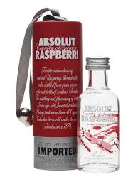 absolut raspberri miniature gift box