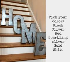 extra large metal letters pick color