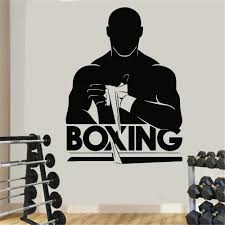 Vinyl Art Wall Decals Gym Fitness Boxer Sport Workout Exercise Muscle Home Decor Boxing Fight Sports Wall Sticker Poster Wall Stickers Aliexpress