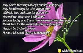god s blessings always confer upon religious birthday quote