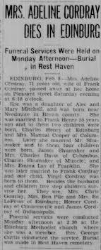 Adeline Mitchell Shoemaker Cordray's Obituary - Newspapers.com