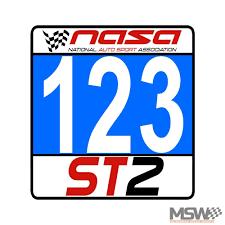 Nasa Super Touring Number Panels Morehead Speed Works